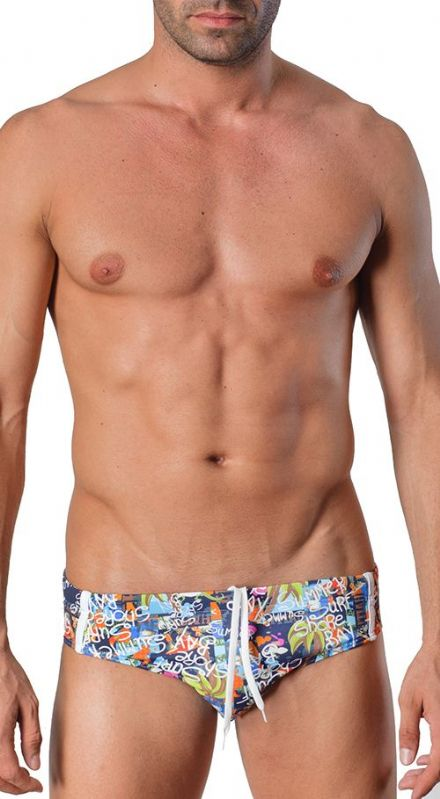 Geronimo Mens Fashion Swimwear Brief Trunks - different colors 1415s2